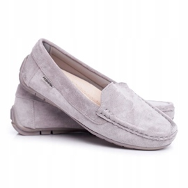 EVE Morreno Women's Loafers Gray Suede grey 1