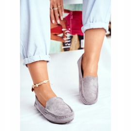 EVE Morreno Women's Loafers Gray Suede grey 2