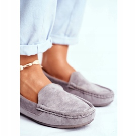 EVE Morreno Women's Loafers Gray Suede grey 5