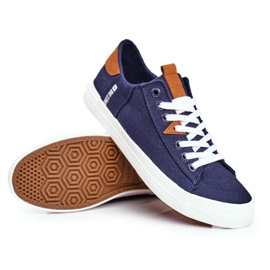 Men's Big Star Sneakers Navy Blue FF174313 6