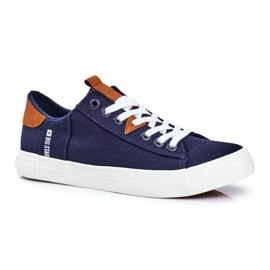 Men's Big Star Sneakers Navy Blue FF174313 1