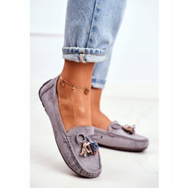 EVE Women's Loafers Suede 20PB35-2003 Gray Donna Mia grey 2