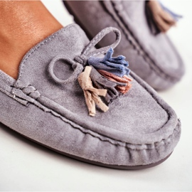 EVE Women's Loafers Suede 20PB35-2003 Gray Donna Mia grey 5