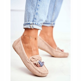 EVE Women's Loafers Suede 20PB35-2003 Beige Donna Mia 4