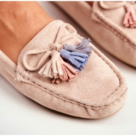 EVE Women's Loafers Suede 20PB35-2003 Beige Donna Mia 5