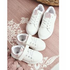 FRROCK Children's Sports Shoes Velcro White Ilonka pink 7