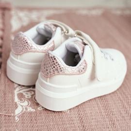 FRROCK Children's Sports Shoes Velcro White Ilonka pink 4