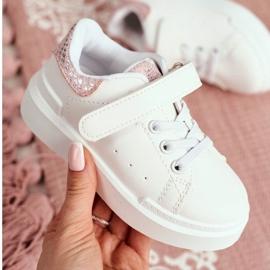 FRROCK Children's Sports Shoes Velcro White Ilonka pink 5
