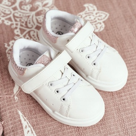 FRROCK Children's Sports Shoes Velcro White Ilonka pink 6