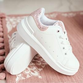 FRROCK Children's Sports Shoes Velcro White Ilonka pink 9
