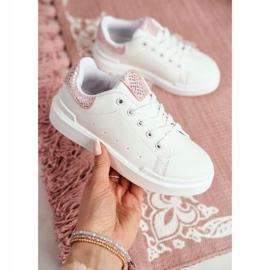 FRROCK Children's Sports Shoes Velcro White Ilonka pink 11