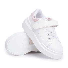 FRROCK Children's Sports Shoes Velcro White Ilonka pink 1