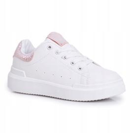 FRROCK Children's Sports Shoes Velcro White Ilonka pink 2