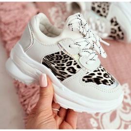 FRROCK Leopard Sport Shoes for Children White Penny grey 2