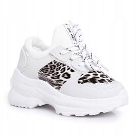 FRROCK Leopard Sport Shoes for Children White Penny grey 5