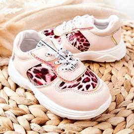 FRROCK Pink Leopard Penny Children's Sport Shoes 4