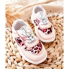 FRROCK Pink Leopard Penny Children's Sport Shoes 1