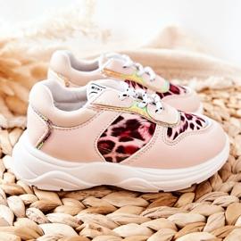 FRROCK Pink Leopard Penny Children's Sport Shoes 2