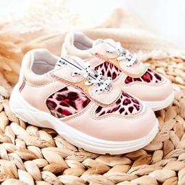 FRROCK Pink Leopard Penny Children's Sport Shoes 5