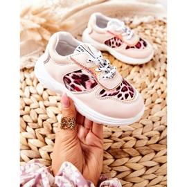 FRROCK Pink Leopard Penny Children's Sport Shoes 3