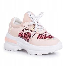 FRROCK Pink Leopard Penny Children's Sport Shoes 6