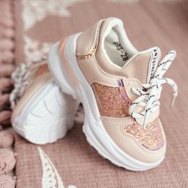 FRROCK Matilda Children's Pink Sports Shoes with Glitter 3