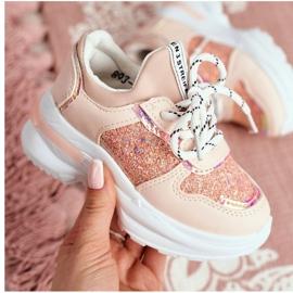 FRROCK Matilda Children's Pink Sports Shoes with Glitter 4