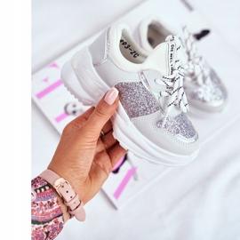 FRROCK Matilda Silver Children's Sports Shoes with glitter white grey 2