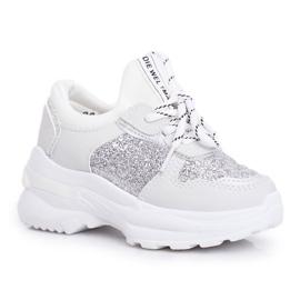 FRROCK Matilda Silver Children's Sports Shoes with glitter white grey 5