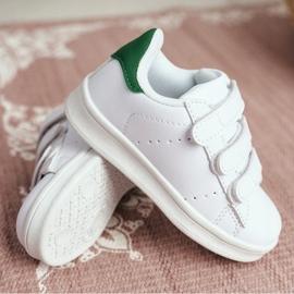 FRROCK Youth Sport Footwear With Velcro White Fifi green 3