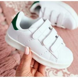 FRROCK Youth Sport Footwear With Velcro White Fifi green 4