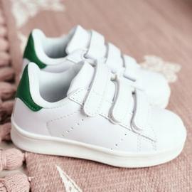 FRROCK Youth Sport Footwear With Velcro White Fifi green 1