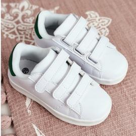 FRROCK Youth Sport Footwear With Velcro White Fifi green 2