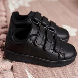 FRROCK Youth Sports Footwear With Velcro Black Fifi 2