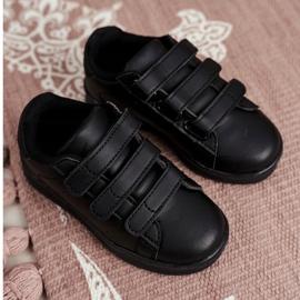 FRROCK Youth Sports Footwear With Velcro Black Fifi 3