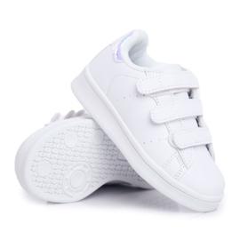 FRROCK Youth Sports Footwear With Velcro White Silver Fifi 6