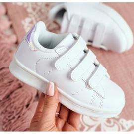 FRROCK Youth Sports Footwear With Velcro White Silver Fifi 4