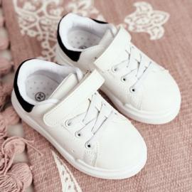 FRROCK Youth Bilbo Sports Velcro Footwear white black 12