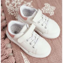 FRROCK Youth Sports Shoes Children Velcro White Pink Bilbo 4