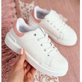 FRROCK Youth Sports Shoes Children Velcro White Pink Bilbo 9