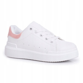 FRROCK Youth Sports Shoes Children Velcro White Pink Bilbo 2