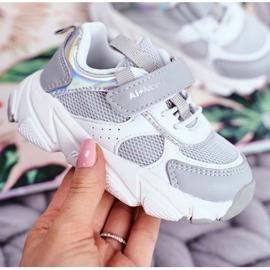 Gray Children's Sport Shoes ABCKIDS B011104349 white grey 4