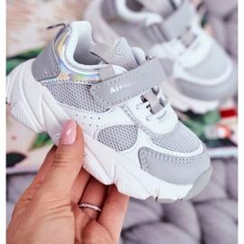 Gray Children's Sport Shoes ABCKIDS B011104349 white grey 2