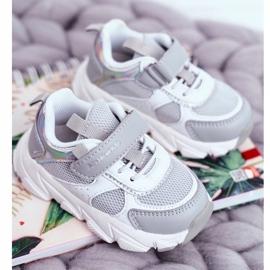 Gray Children's Sport Shoes ABCKIDS B011104349 white grey 1