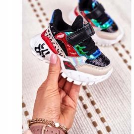 FRROCK Black Children's Sports Shoes Velcro Be Happy multicolored 1