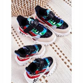 FRROCK Black Children's Sports Shoes Velcro Be Happy multicolored 7