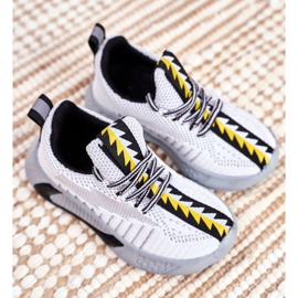FRROCK Gray Children's Stitch Sport Shoes grey 5