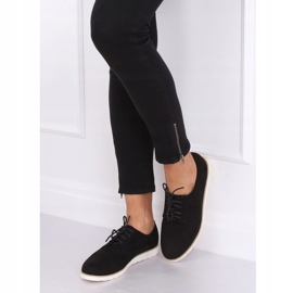 Loafers for women lace-up black T297 Black 2