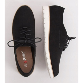 Loafers for women lace-up black T297 Black 3