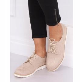 Loafers for women lace-up beige T297 Beige 4